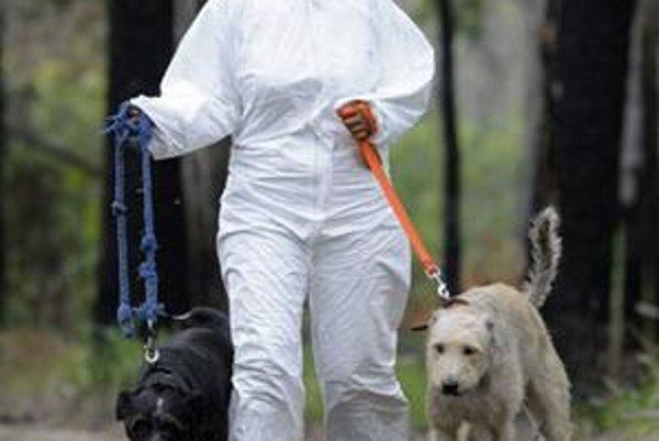 Dallas Bootheyová z Yandaranu nosí ochranný oblek, aby sa na ňu nemohli drobné, pichľavé chĺpky húseníc dostať.