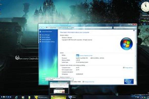 Dolná lišta sa od Windowsu 95 prakticky nezmenila. Microsoft sa teraz rozhodol, že ju zväčší a pridá do nej náhľady programov.