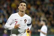 Cristiano Ronaldo v reprezentačnom drese.