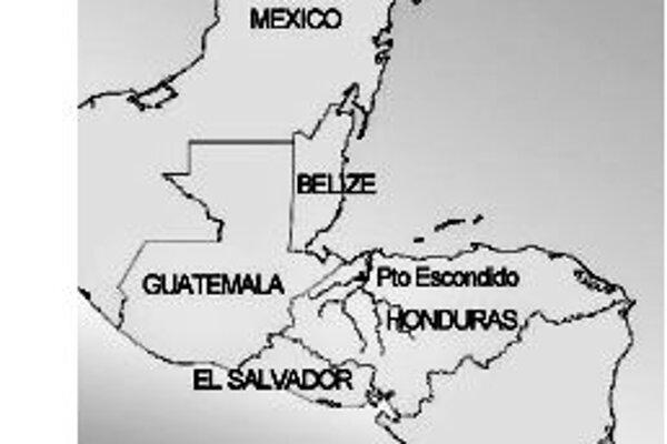 Mapka východnej Mezoameriky s náleziskom Puerto Escondido. Ilustrácie - PNAS