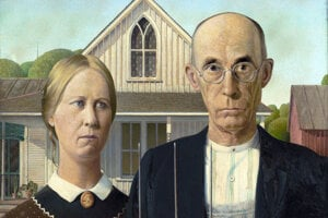 Grant Wood: American Gothic, 1930.