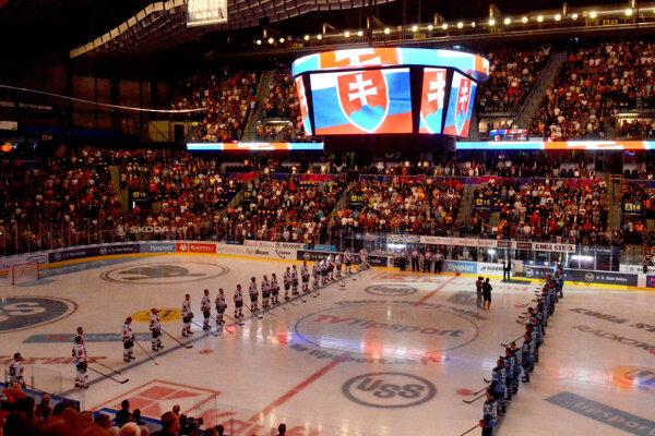 Atmosféra počas zápasu Košičanov so Slovanom bola elektrizujúca.