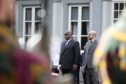 Na snímke vpravo belgický premiér Charles Michel a vľavo prezident Konžskej demokratickej republiky Félix Tshisekedi.