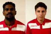Zľava: Tafarel Oliveira Gonçalves a David Fernandes Xavier.