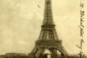 """Eifelova veža už 18 rokov dominovala Parížu, keď """"z nej"""" presne na Valentína (14. februára 1905) Štefánik poslal pozdrav."""