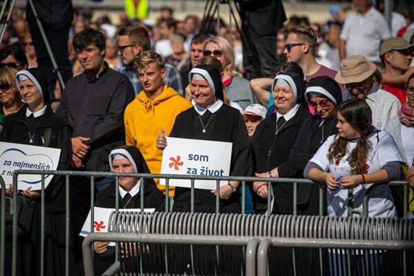 Pochodu sa zúčastnilo 50-tisíc ľudí. Foto: SME - Marko Erd