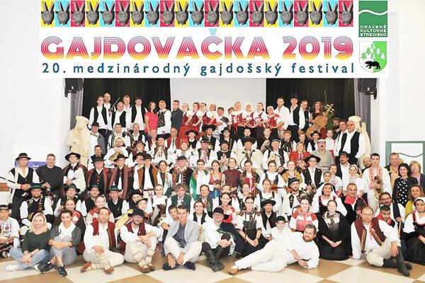 Účastníci tohtoročnej Gajdovačky 2019.