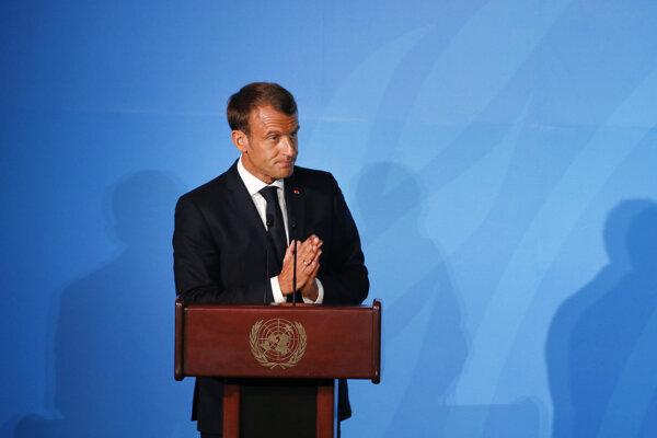 Emmanuel Macron na klimatickom summite v USA.