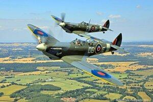 Fotografia z dokumentárneho filmu o bojových stíhačkách Spitfire