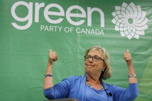 Predsedníčka Kanadskej strany zelených Elizabeth Mayová.