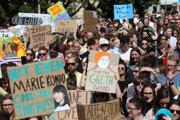 Klímaštrajk na Novom Zélande.