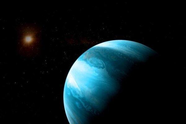 Umelecká predstava planéty GJ 3512 b pri červenom trpaslíku. Nečakane veľká planéta pri malej hviezde rúca teórie astronómov.