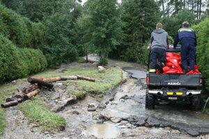 Chatová oblasť v Starej Lesnej bola najviac poškodená povodňou.