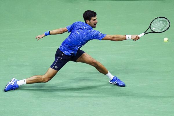 Novak Djokovič na US Open 2019.