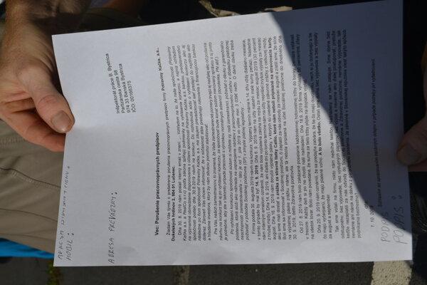 Nespokojní zamestnanci Potravín Kačka sa rozhodli obrátiť aj na Inšpektorát práce v Banskej Bystrici.