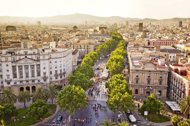 Las Ramblas v Barcelone