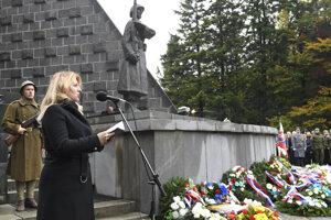 Prezidentka Zuzana Čaputová na Dukle.