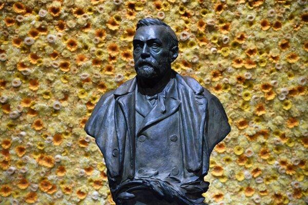 Socha Alfreda Nobela v Štokholme.