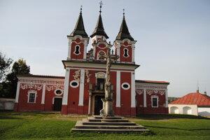 Baroková pamiatka. Kostol sv. Kríža na prešovskej Kalvárii.