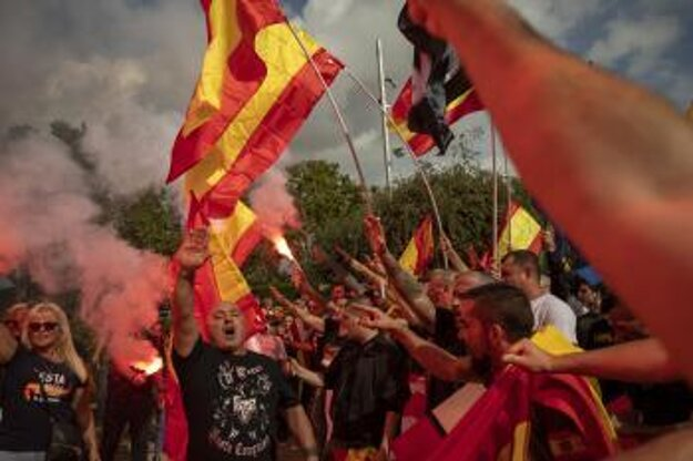 Protesty v Barcelone.