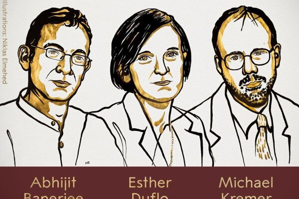 Laureáti Nobelovej ceny za ekonómiu: Abhijit Banerjee, Esther Duflová a Michael Kremer