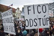 Protest Za slušné Slovensko.