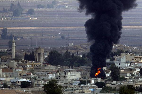 Turecká ofenzíva v Sýrii proti Kurdom.
