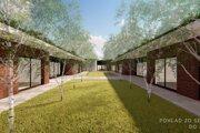 Architektonický návrh novostavby špecializovaného zariadenia pre seniorov v Krupine od Zuzany Čerešňovej a Michala Kaceja.