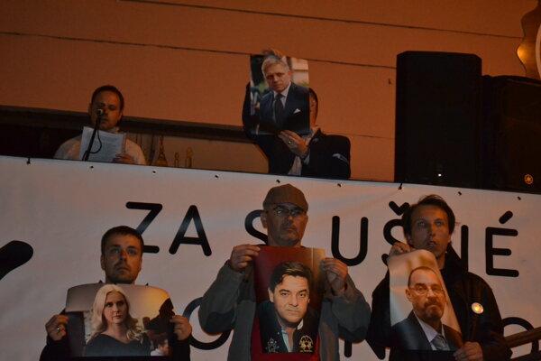 Počas prešovského protestu.