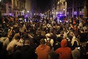Pochod proti nezávislosti Katalánska.