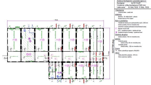 Vizualizácia kontajnerového riešenia budúcej karanténnej stanice je týždne hotová.