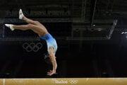 Uzbecká gymnastka Oxana Čusovitina.