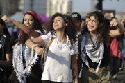 Protesty v Libanone.
