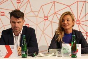 Juraj Méry a Denisa Žilákova na konferencii o doprave, ktorú v septembri organizoval Petit Press.
