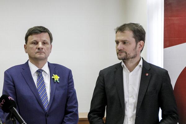 Alojz Hlina a Igor Matovič.