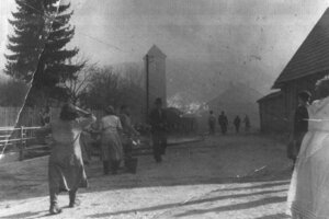 Požiar v Oravskej Jasenici, 19. októbra 1957