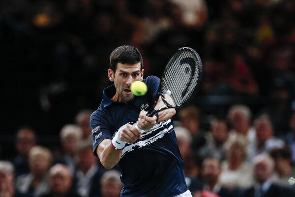 Novak Djokovič v osemfinále turnaja ATP Masters 1000 v Paríži.