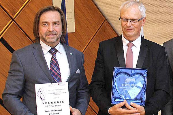 Oravskí starostovia - vľavo Július Piták, vpravo Ján Banovčan.
