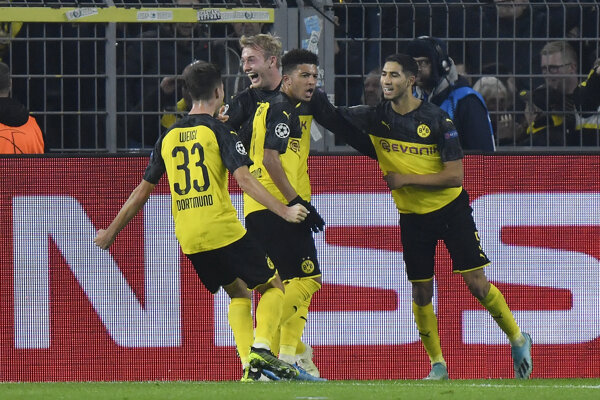 Futbalisti Borussie Dortmund - ilustračná fotografia.