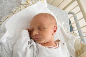Michaela Blažejová (2680 g, 47 cm) sa narodila 24. októbra Marike a Pavlovi zo Starej Turej.
