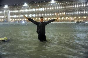 Záplavy v Benátkach.