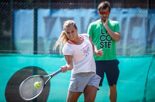 Dominika Cibulková mala v schoposti trénera Mateja Liptáka absolútnu dôveru.