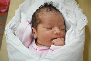 Anežka Patková (2920 g, 50 cm) sa narodila 4. novembra Alene a Andrejovi zo Soblahova.