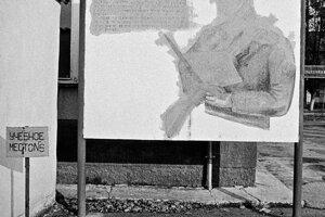 Fotografie zo sťahovania Sovietov z Rožňavy.