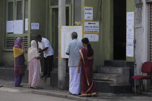 Voľby na Srí Lanke.
