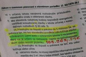 Stavebný zákon hovorí o priestupku s pokutou až do výšky 168-tisíc eur.