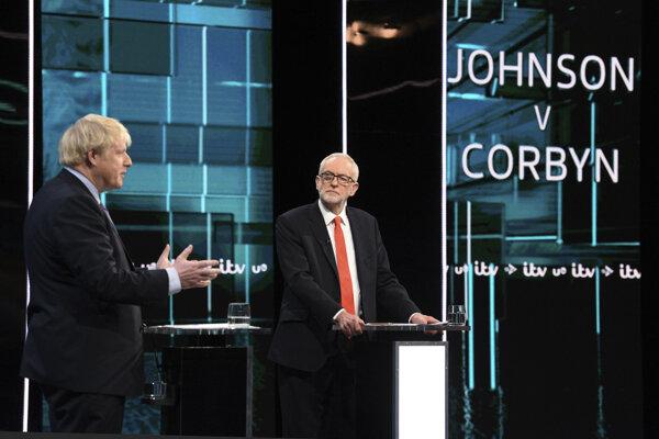 Boris Johnson a Jeremy Corbyn.
