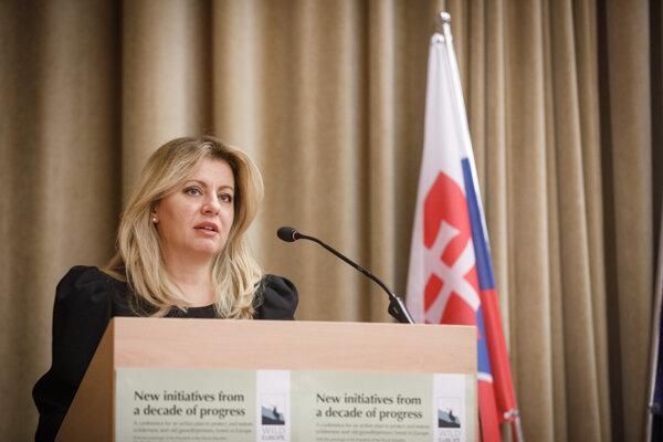 uzana Čaputová v príhovore počas otvorenia medzinárodnej konferencie o ochrane pralesov a divej prírody v Európe.