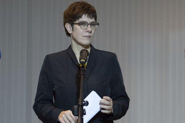 Annegret Krampová-Karrenbauerová, šéf nemeckých kresťanských demokratov.