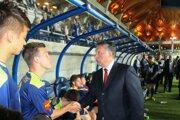 Viktor Orbán na futbalovom štadióne vo Felcsúte.
